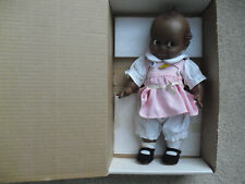 "Vintage 1983 Cameo Jesco Black Kewpie Girl Doll NIB 11 1/2"" Tall 2105"