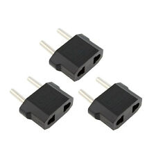 3X PACK American US to European EU Power Outlet Plug Adapter Converter Type C
