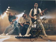 Original Status Quo photo hand signed twice by Francis Rossi 10.8x8 in mounted