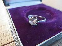 Prächtiger 800 Silber Ring Solitär 1 Carat Zirkonia wie Diamant Einkaräter Edel