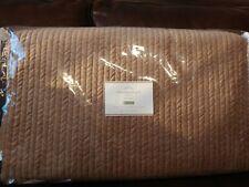 Pottery Barn Velvet Channel Quilt Full / Queen Nwt Sand Stone New