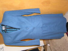 Leslie Fay Fully Lined Skirt & Jacket Blue Suit, Wool Blend,14 Petite 14P Solid