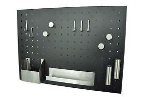 Magnettafel Memoboard Schlüsselboard Magnetwand Pinnwand Stahl 50 x 35 schwarz