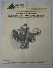 Tuning Instructions Eliminator II SU Carburetor Models - REPRODUCTION
