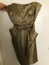 Cooper Gold Strapless Dress With Pockets From Wishes