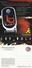 CRY WOLF THE MOVIE UNUSED ADVERTISING COLOUR POSTCARD