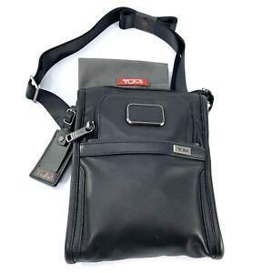 Tumi Alpha 3 Black Leather Pocket Bag Small Organizer Pouch 1173221041