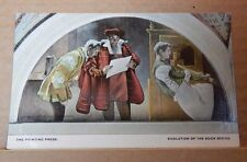 Postcard America The printing press Mural Library Of congress Washing  Unposted
