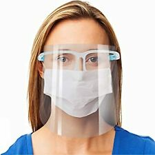 Face Shield with Glasses/Mask clear guard protection From U.S. Ready to ship
