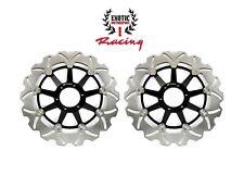 Front Brake Disc Rotors For Honda Goldwing GL 1800 2001-2017 Wave Rotors black