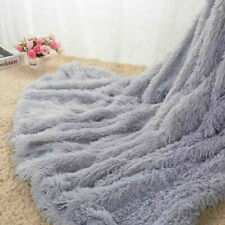 2020 Super Soft Warm fluffy comfy faux fur Shaggy Plush Throw Blanket Rug Sofa