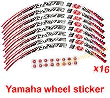 Yamaha Wheel Sticker Red Reflective Cygnus Motorcycle Rim Decal Tape Stripe x16