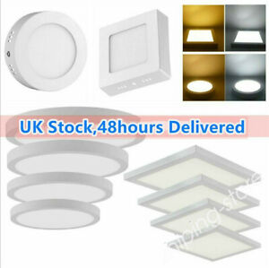 ⭐Bright LED Panel Ceiling Light Down Lamp Round Square Surface Mount Lights ZE