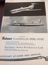 72-3 Ephemera 1961 Advert Palmer Fluoroflex Ptfe Hose London