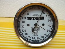 160 KPH Speedometer fits Royal Enfield Smiths Type white face logo