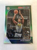 2019-20  Panini NBA Hoops Green # /99 Myles Turner Indiana Pacers Card
