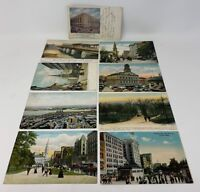 Boston MA Vintage Postcard Lot/9 Old South Church Faneuil Hall Siegel Co. 181624