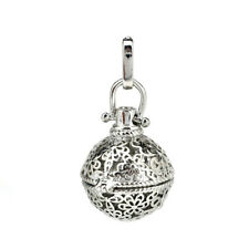 Beads Cage Locket Pendant B56 1Pc Silver Alloy Ball Flower Hollow