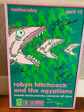 Robyn Hitchcock and the Egyptians w/Peter Buck (REM) signed concert poster