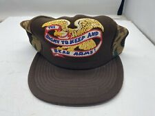 New listing Vintage Right To Keep And Bear Arms Patriotic Camo Snapback Trucker Cap Hat Nos