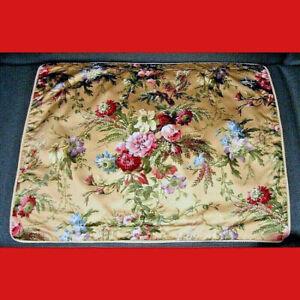 Vintage Ralph Lauren Adriana 100% Cotton Satin 2 (TWO) Standard Shams