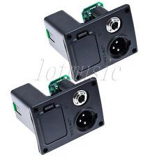 2* Acoustic Guitar EQ Battery Box Case w/4 pins & plug For Guitar Equalizer EQ
