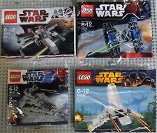 Lego Star Wars Minis 30051 30056 8028 30246 X-Wing Tie Fighter Destroyer Shuttle