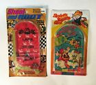 Vintage 1970s Set of 2 Carded Pinball Games - Made in Hong Kong