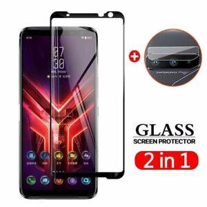 For Asus ROG Phone 3 ZS661KS Camera Lens + Tempered Glass Full Screen Protector