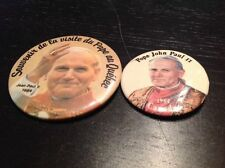 Vintage pope jean paul II pin button set 1984 canada