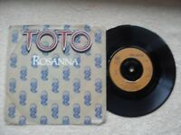"""TOTO ROSSANNA CBS RECORDS UK 7"""" VINYL SINGLE in PICTURE SLEEVE - SOFT ROCK."""