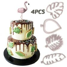 4pcs Tropical Leaf Mold Sugarcraft Fondant Cake Decorating Tools Chocolate Mould