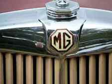 MG Bonnet 2569 Grille Real Photo A4 Metal Sign Aluminium