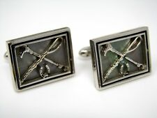 Vintage Cufflinks Jewelry: Polo Equipment Mallet Stick Horseshoe Design Quality