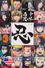 "Naruto Uchiha Sasuke Kakashi Sakura 36"" x 24"" Large Wall Poster Print Anime #99"