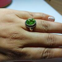 Peridot Ring 925 Sterling Silver Natural Peridot August Birthstone Ring Jewelry
