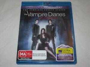 The Vampire Diaries - Complete Season 4 - 5 Disc Set - VGC - Region B - Blu Ray