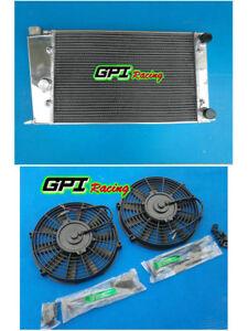 VW GOLF MK1/CADDY/ SCIROCCO GTI SPEC 1.6/1.8 aluminum radiator +FAN