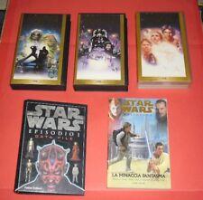 harrrison ford. trilogia star wars 1/3 vhs vintage edizione speciale +data file