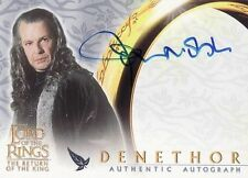 Lord of the Rings Return of the King John Noble as Denethor Auto Card LotR