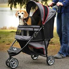 Gen7Pets Stroller Regal™ Plus stroller wgt 11lbs Grey Shadow G2320GS up to 25lbs