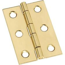 "25 Pk Solid Brass 1 3/8"" Wide X 2"" High Jewelry Box Broad Hinge 2/Pk N211375"