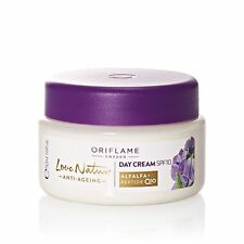 Oriflame Love Nature Anti-aging Day cream with Q10, spf 10 and alfalfa+ peptide