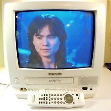 "Panasonic Omnivision 13"" CRT TV VCR Combo Remote White Retro Gaming PV-M1358W"