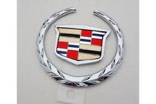Cadillac DEVILLE DHS DTS 2002 2003 2004 2005 REAR TRUNK WREATH & CREST EMBLEM