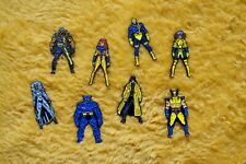 X-Men Enamel Lapel Pin Set Complete 1990s Wolverine Marvel Universe Stan Lee