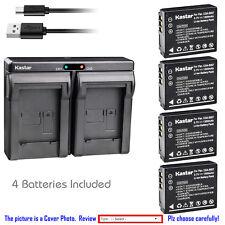 Kastar Battery Dual Charger for Panasonic CGA-S007 & Panasonic LUMIX DMC-TZ4S