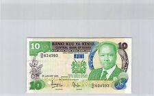 KENYA 10 SHILLINGS 1.1.1982 N° D41 634593 PICK 20 b