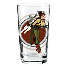 DC Bombshells Pin-Up Pint Glass Hawkgirl Toon Tumbler 2014 PopFun DC Comics