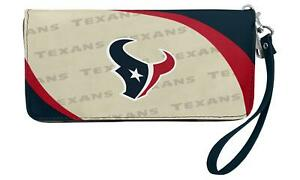 Houston Texans NFL Women's Curve Zip Organizer Wallet / Purse